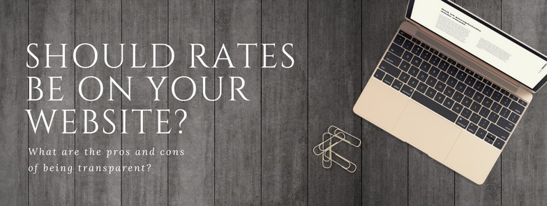 Should you put rates on your website - freelance rates