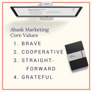 Abask Marketing Core Values