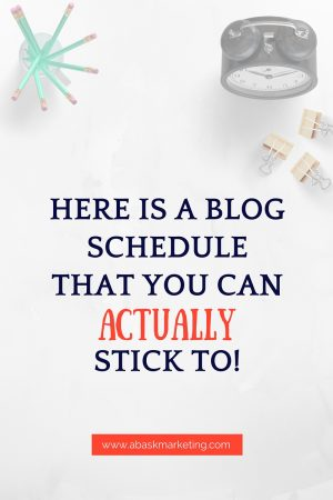 How To Build A Blog Schedule That Will Crush Your Goals