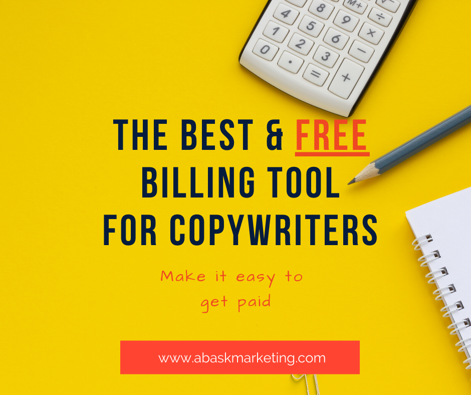 THE ONLY ACCOUNTING TOOL A COPYWRITER NEEDS