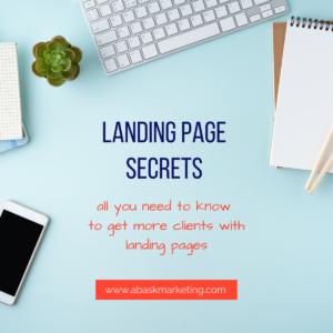 landing page secrets
